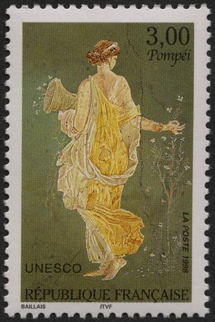 La Flora, francobollo celebrativo francese della città di Pompei