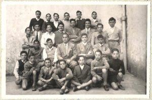 Scuole medie anno 1952 3° classe prof Zullo
