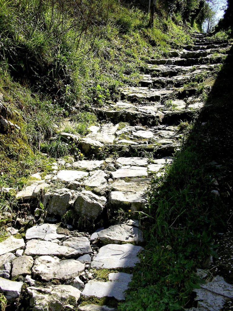 La mulattiera per Monte Pendolo (foto Maurizio Cuomo)