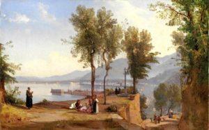 Giacinto Gigante, Veduta di Castellammare, olio su tavola 1843
