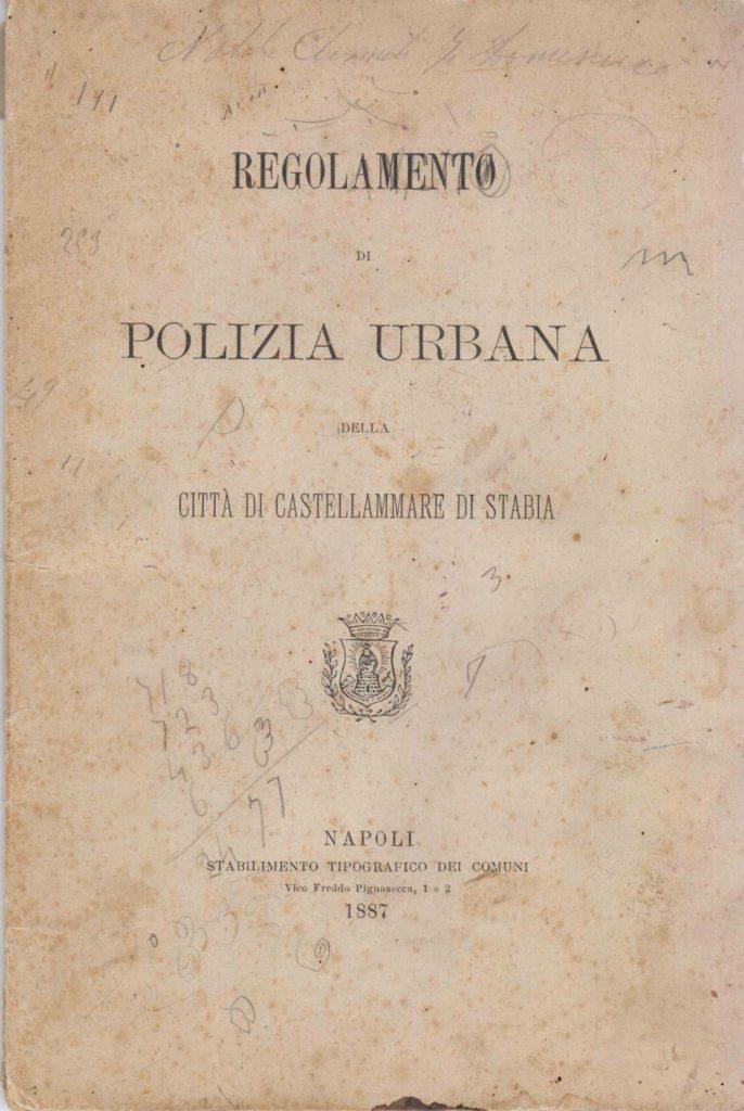 Regolamento di Polizia Urbana della città di Castellammare di Stabia (1887)