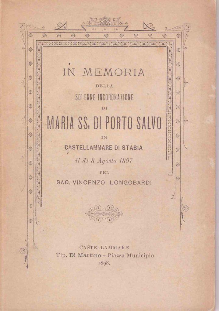 In memoria della Solenne Incoronazione di Maria SS. di Porto Salvo (1898)