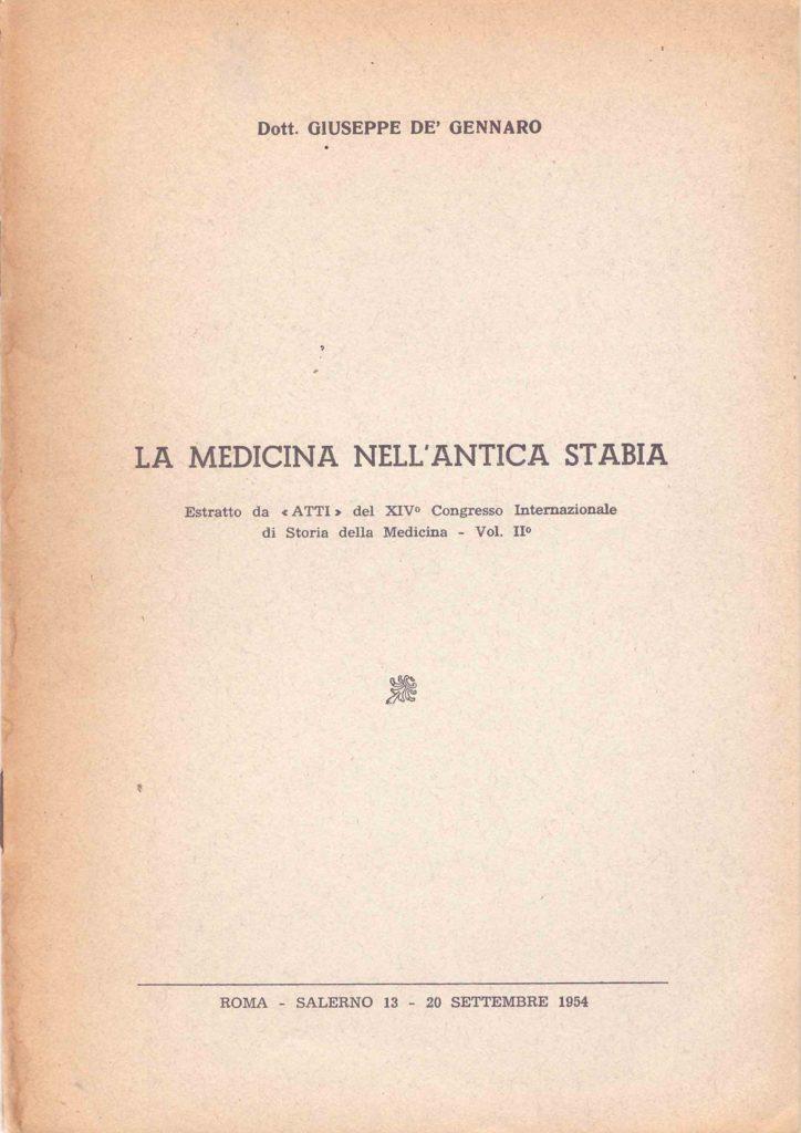 La medicina nell'antica Stabia (1954)