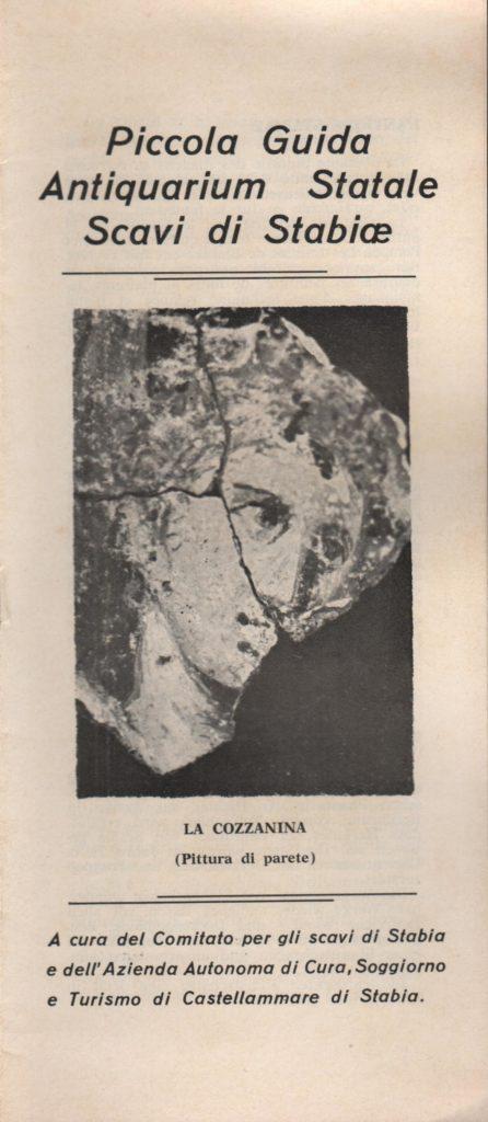 Piccola guida Antiquarium Statale Scavi di Stabiae (anni 60)