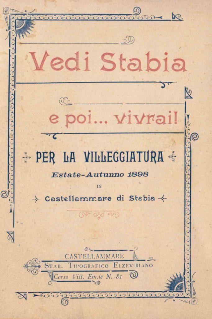 Vedi Stabia e poi,,,,,,,,,,,, vivrai! (1898)