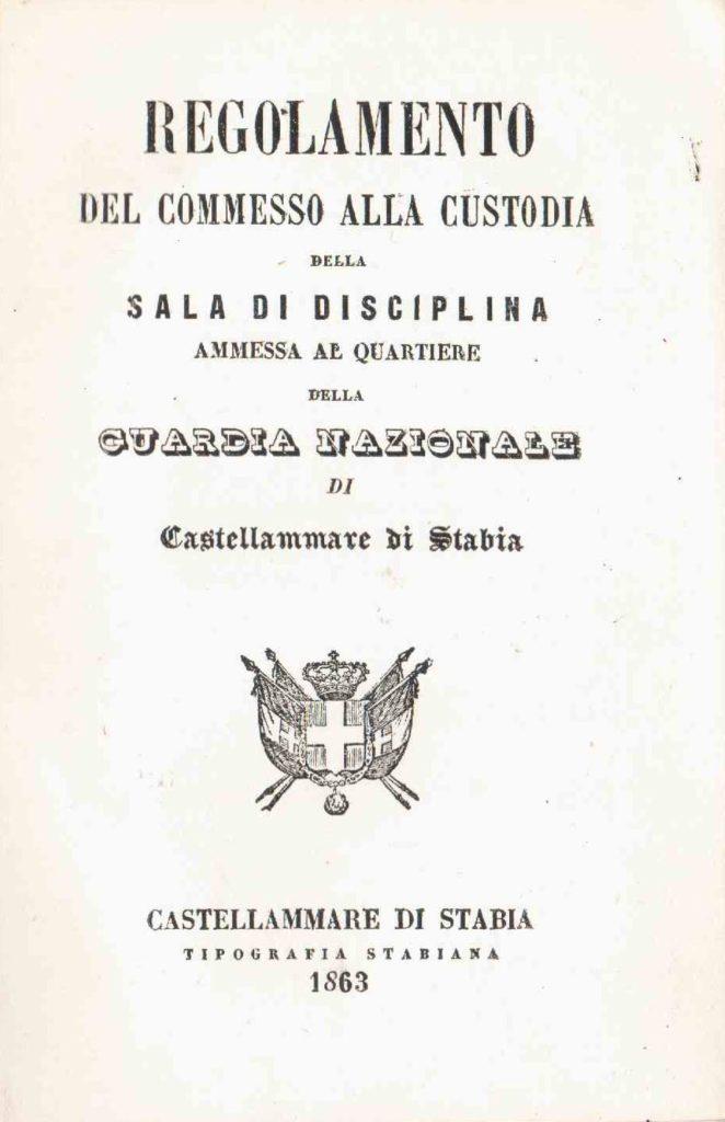 Regolamento… Guardia Nazionale di Castellammare (1863)