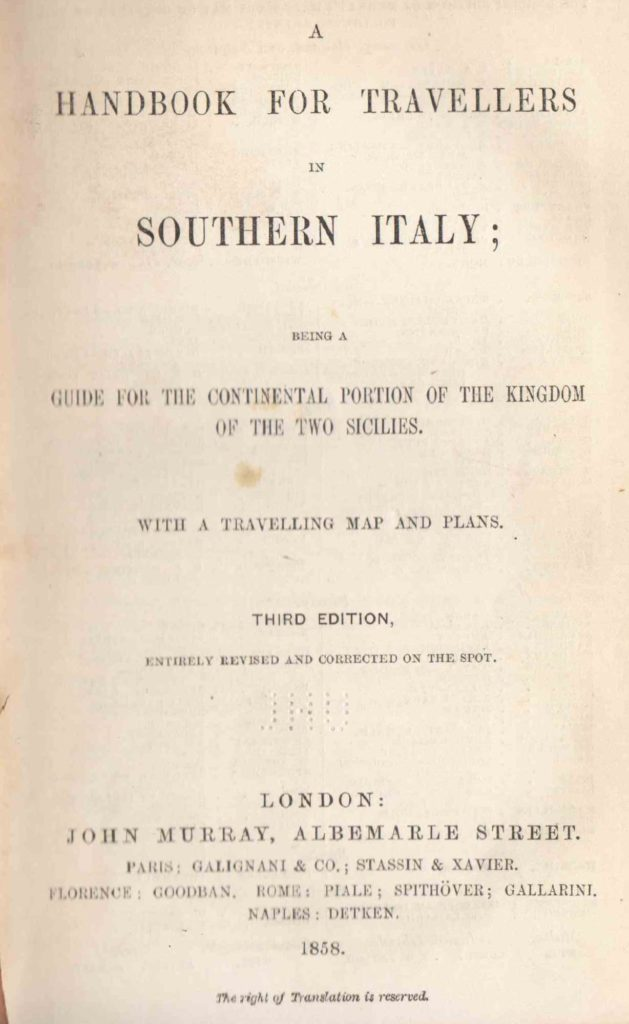 Murrays hand- book South Italy & Naples (1858)