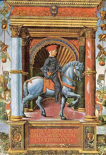 Miniatura di Jacopo Muzio Attendolo detto Sforza, XV secolo