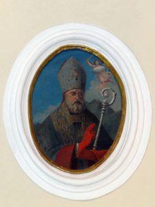 San Catello ovale di bottega napoletana del secolo XVIII (Chiesa di San Giacomo Maggiore - Castellammare di Stabia)