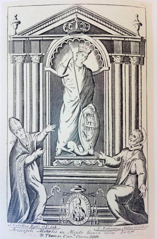San Catello, Sant'Antonino e San Michele, tratta da: Giuseppe D'Angelo, Sul filo della memoria, Longobardi editore, 2008.