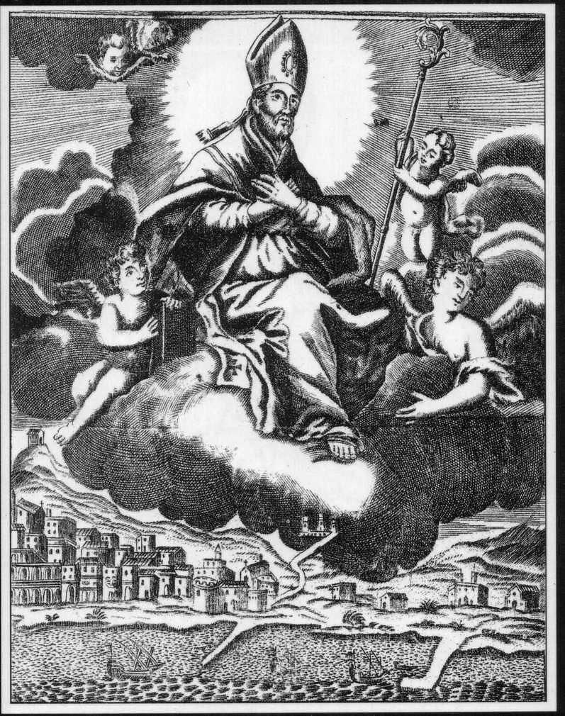La Gloria di San Catello, stampa del 1764, Archivio Liberoricercatore