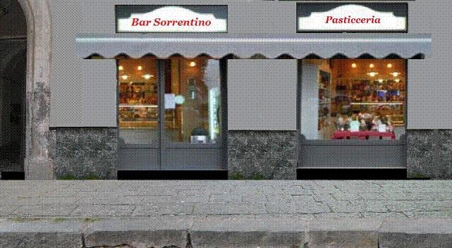 Vetrina fronte strada (fotomontaggio a cura del dott. Tullio Pesola)