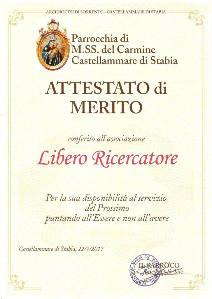 Pergamena Maria SS del Carmine