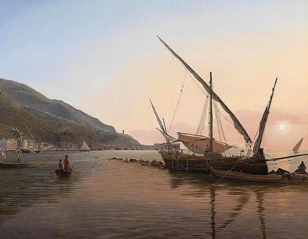 Castellammare nel golfo di Napoli, Jacob Alt (1837) galleria Liberoricercatore