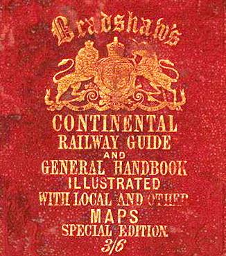 Guida Bradshaw, 1875, copertina