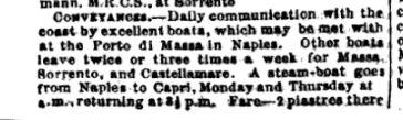 Guida Bradshaw 1875, pag. 550 relativa a Capri