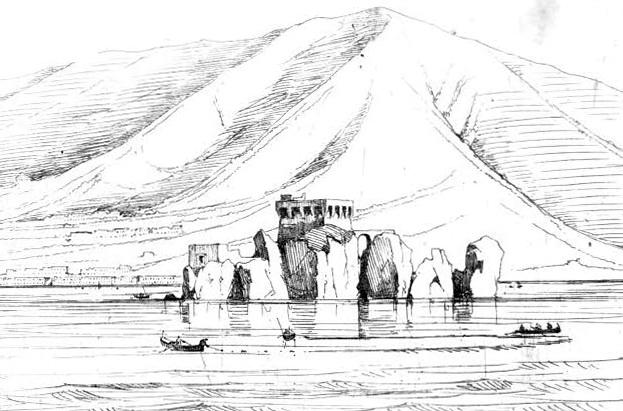 Scoglio di Rovigliano, Achille Gigante, tratto da Viaggio da Napoli a Castellammare, di Francesco Alvino