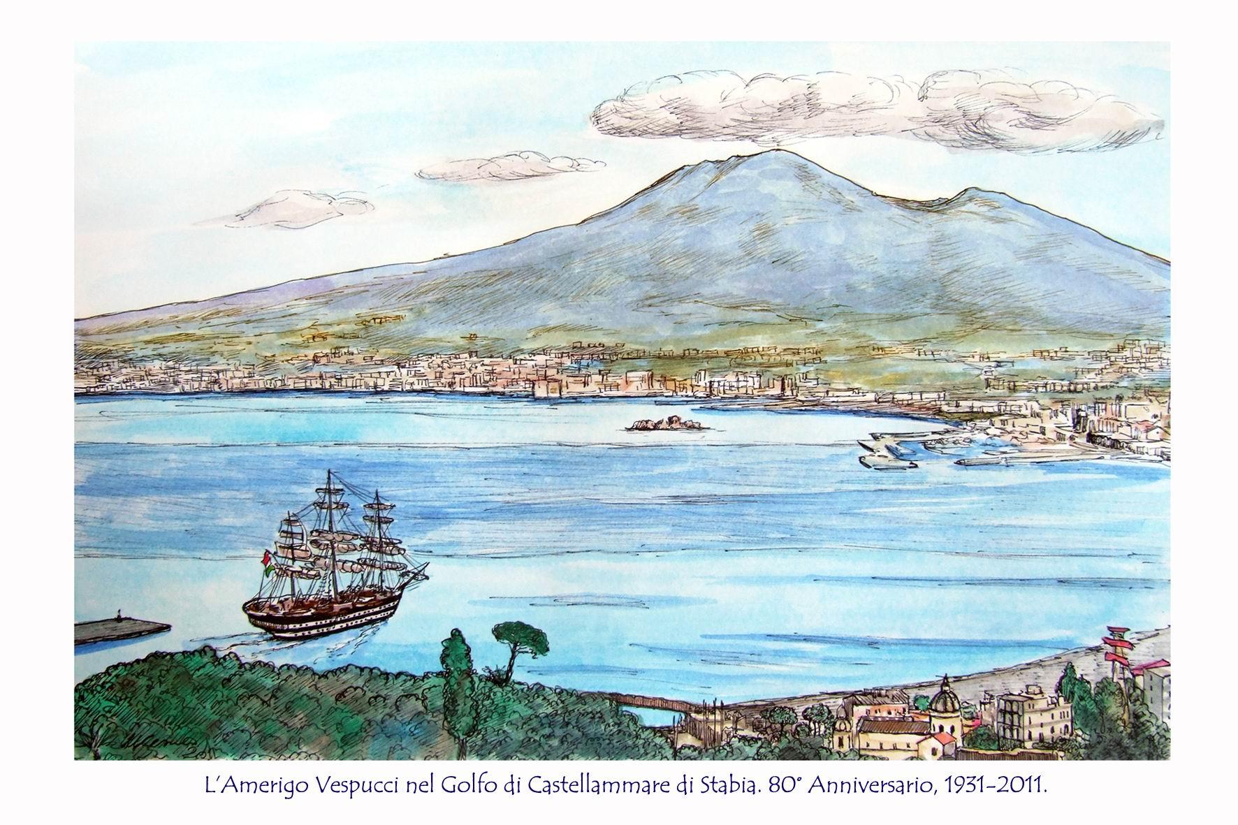 L'Amerigo Vespucci nel Golfo di Castellammare di Stabia