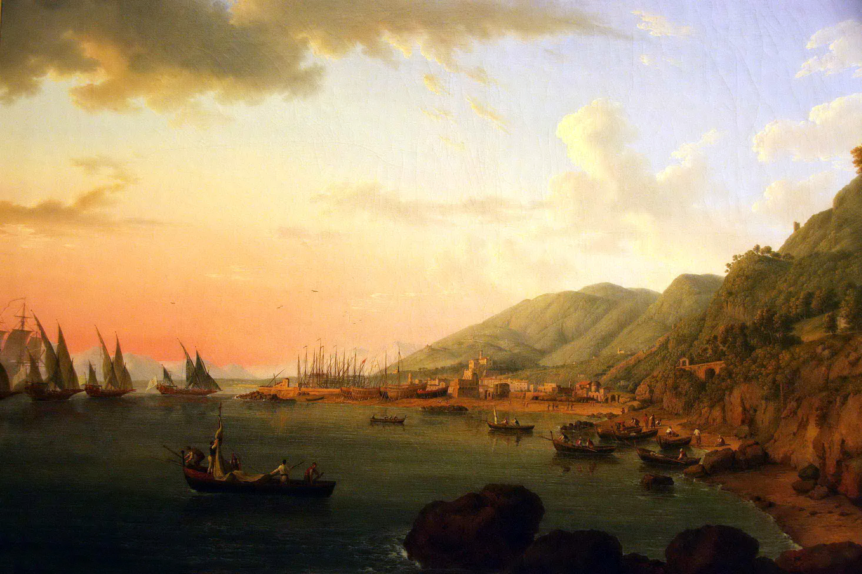 Jacob Philipp Hackert, veduta di Castellammare di Stabia 1782
