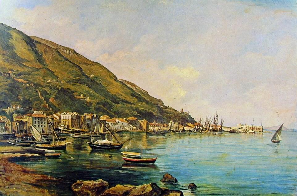 Raffaele Carelli, il porto di Castellammare