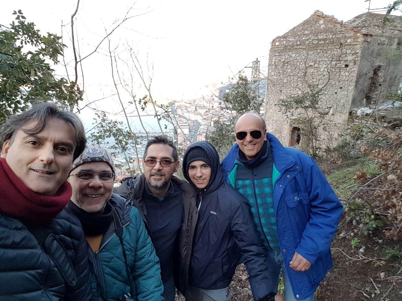 27 gennaio 2018: Sopralluogo alla chiesetta di San Raffaele: Pasquale, Enzo, Maurizio, Domenico e Corrado