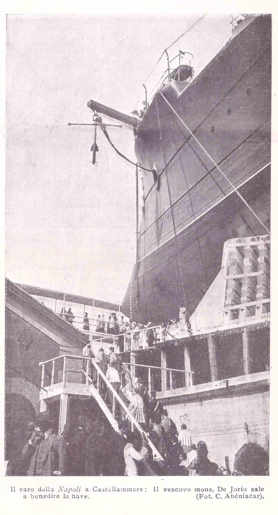 Varo della nave corazzata Napoli a Castellammare