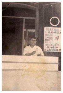 Il banco gelateria (foto di proprietà di Rosalba Spagnuolo)