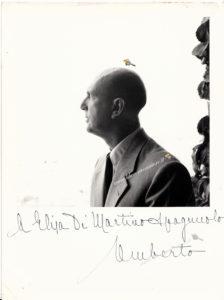 Dedica di Re Umberto II alla signora Di Martino (foto di proprietà di Rosalba Spagnuolo)