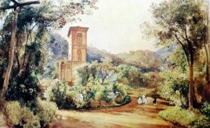Giacinto Gigante, La colombaia di Palazzo Reale, 1835, opera segnalata da Enzo Cesarano