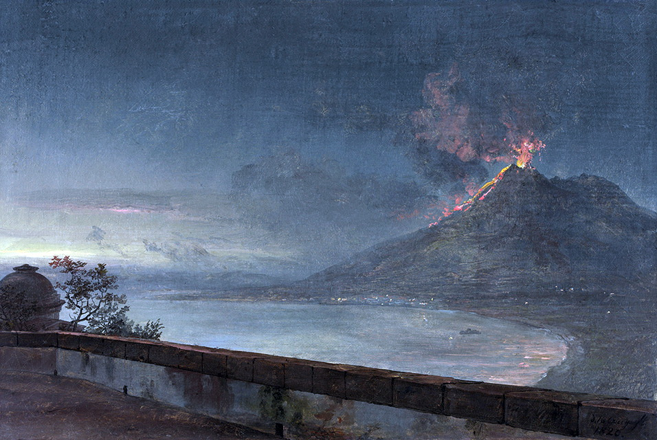 View of Vesuvius from Villa Quisisana, natinalmuseum Sweden