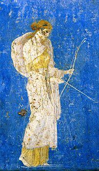 Diana, affresco Villa Arianna, Museo Nazionale di Napoli