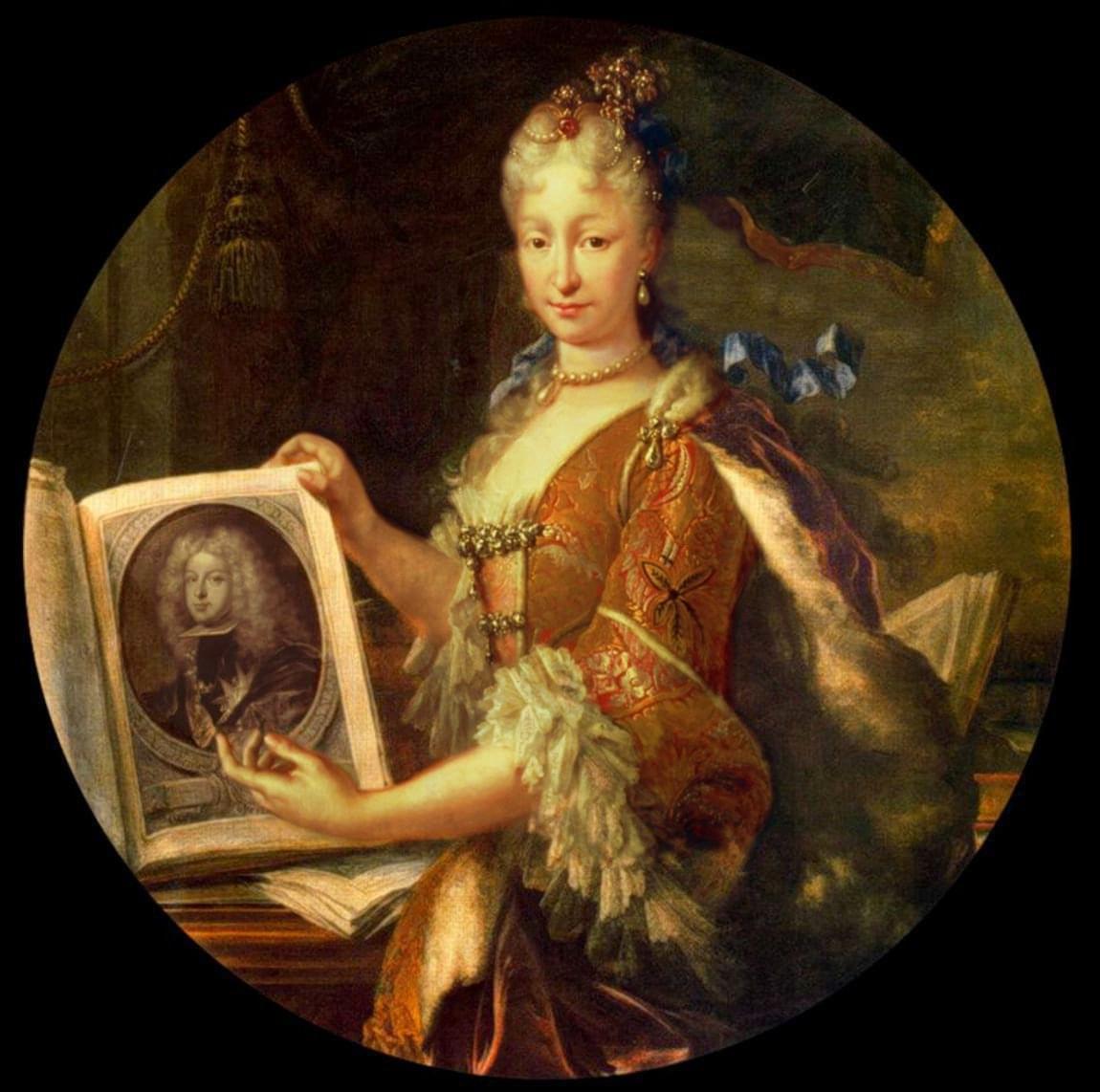Luis Meléndez, Elisabetta Farnese, moglie del Re di Spagna Filippo V, 1715