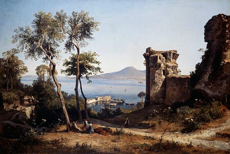 Veduta di Castellammare - Giacinto Gigante