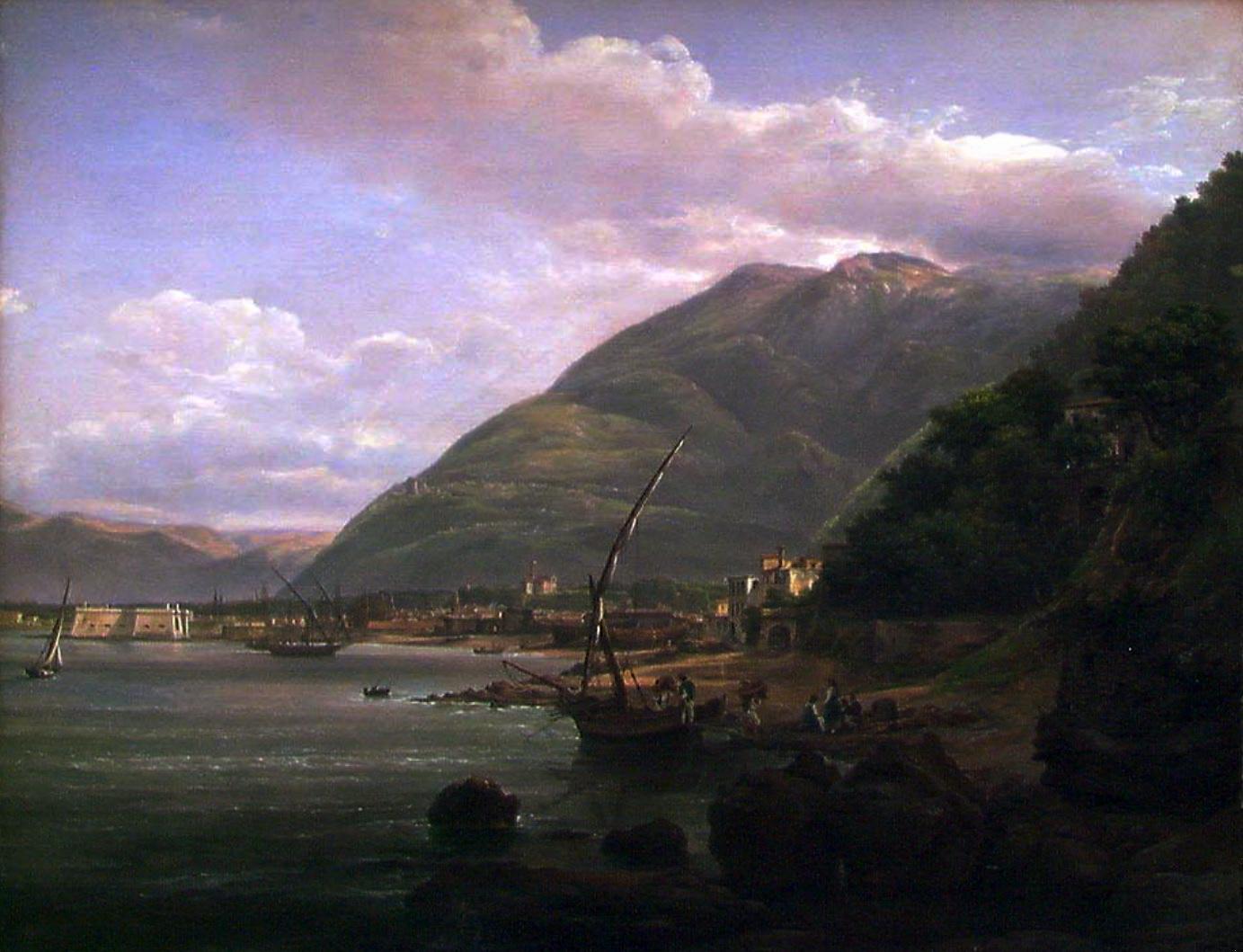 Johan Christian Dahl, Veduta di Castellammare dalla riva