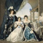Mary Anne, Lady Acton, con i suoi figli Elizbeth Acton, and Sir Ferdinand Richard Edward Dalberg-Acton, 1820 circa, acquerello su carta 71x80, Coughton Court, Warwickshire