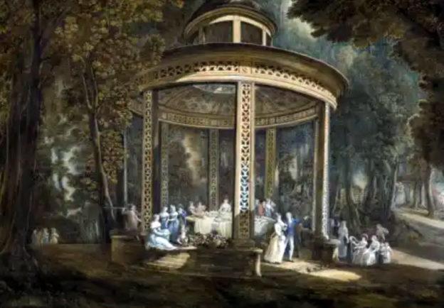 Abraham Louis Ducros, Il padiglione Cinese che si trova nella foresta (giardino) del Casino di sua eccellenza, monsieur le General Acton Castelmara (Castellammare di Stabia) 1794