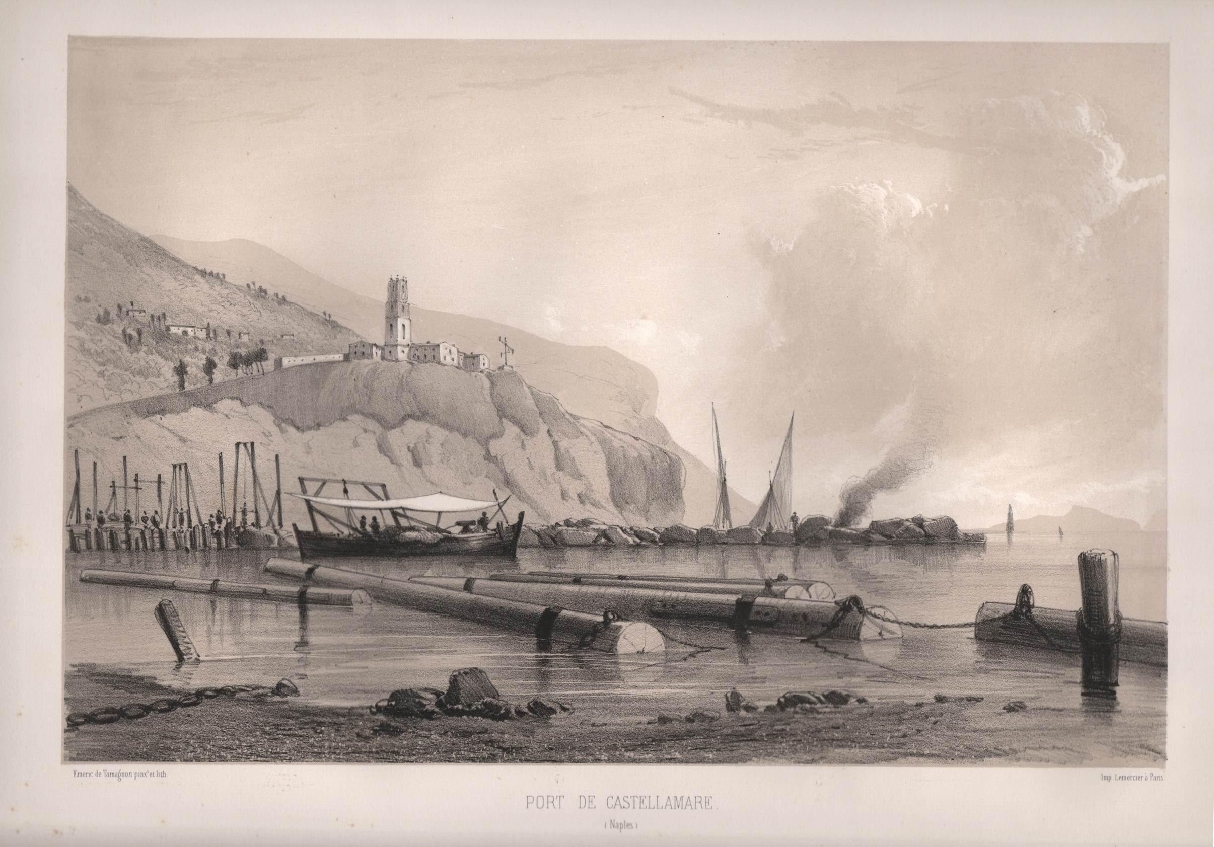 Port de Castellamare, Paris 1855, (Collezione Gaetano Fontana)