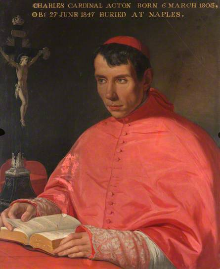 Cardinal Charles Januarius Edward Acton, olio su tela 1844, Coughton Court, Warwickshire