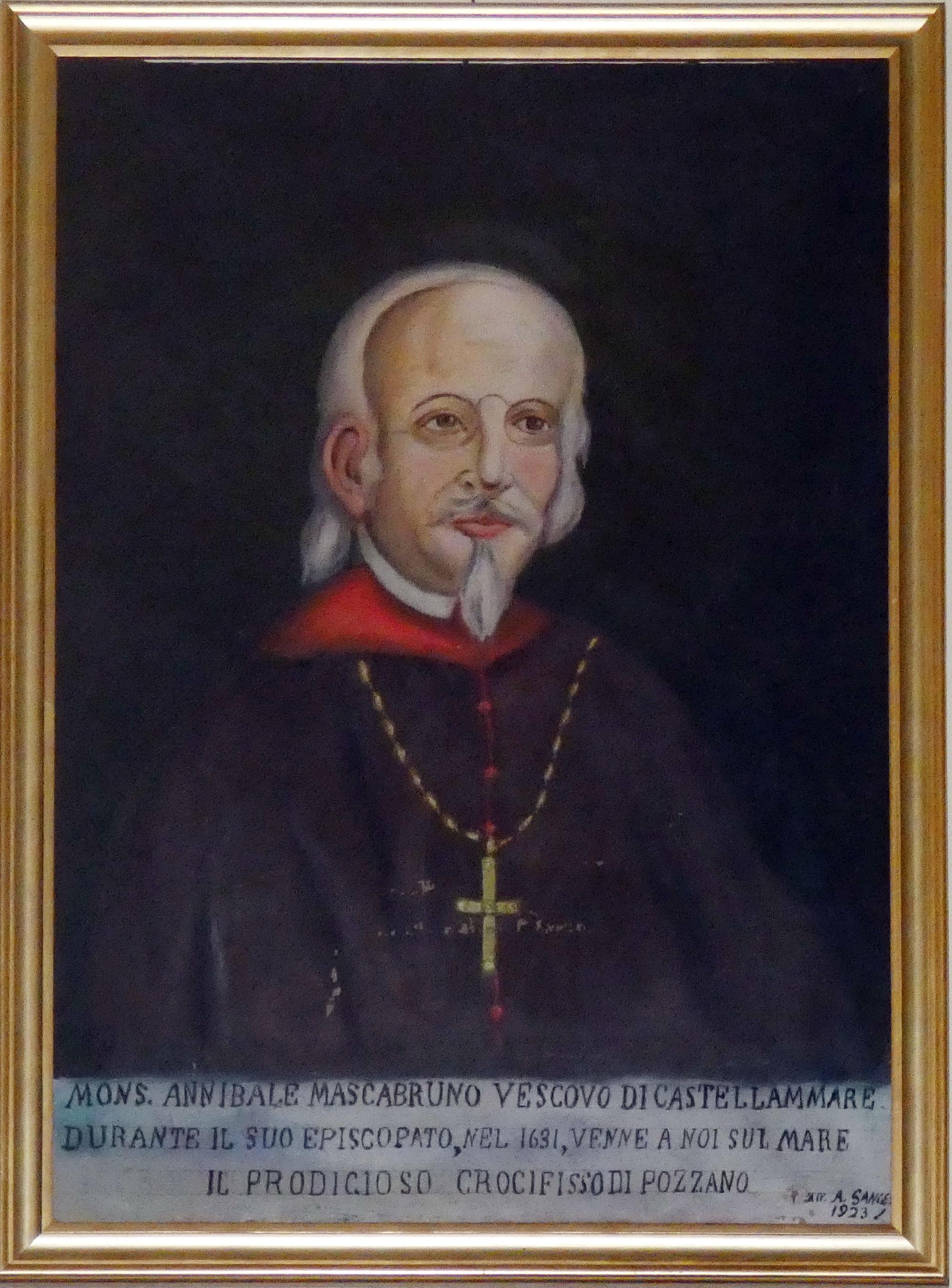 Monsigno Annibale Mascambruno, dipinto di A. Sanges 1923