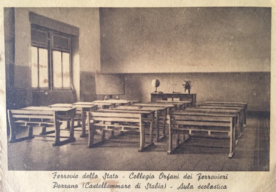 Collegio orfani dei ferrovieri a Pozzano - aula scolastica (coll. Massimiliano Greco)