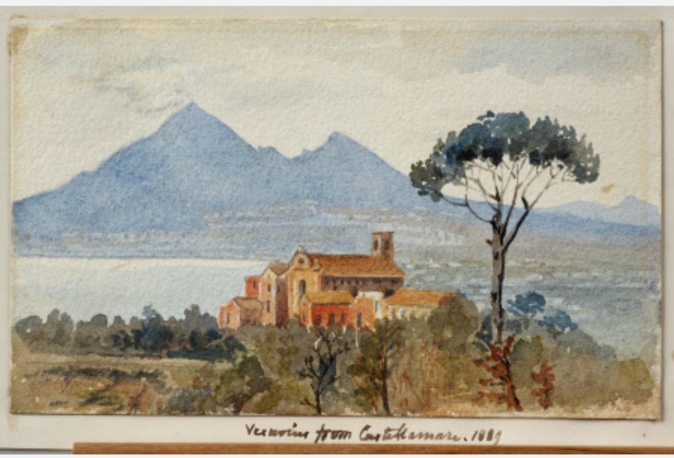 Emily Jane Wodhouse, Acquerello su carta, Chiesa di Santa Croce 2, 1889