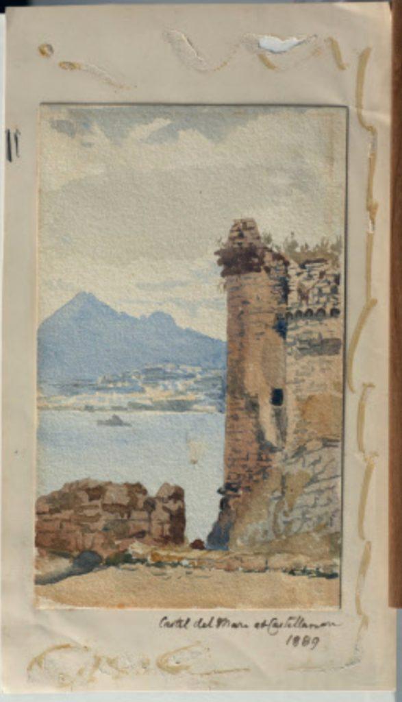 Emily Jane Wodhouse, Acquerello su carta, Il Castello, 1889