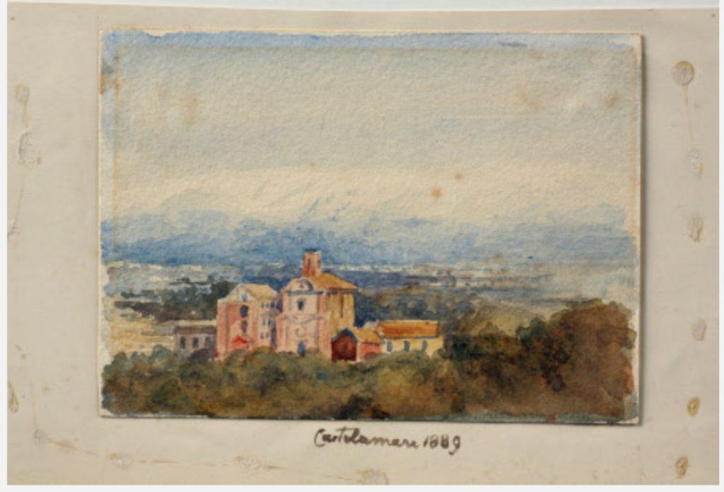 Emily Jane Wodhouse, Acquerello su carta, misure 125x175, Chiesa di Santa Croce, 1889