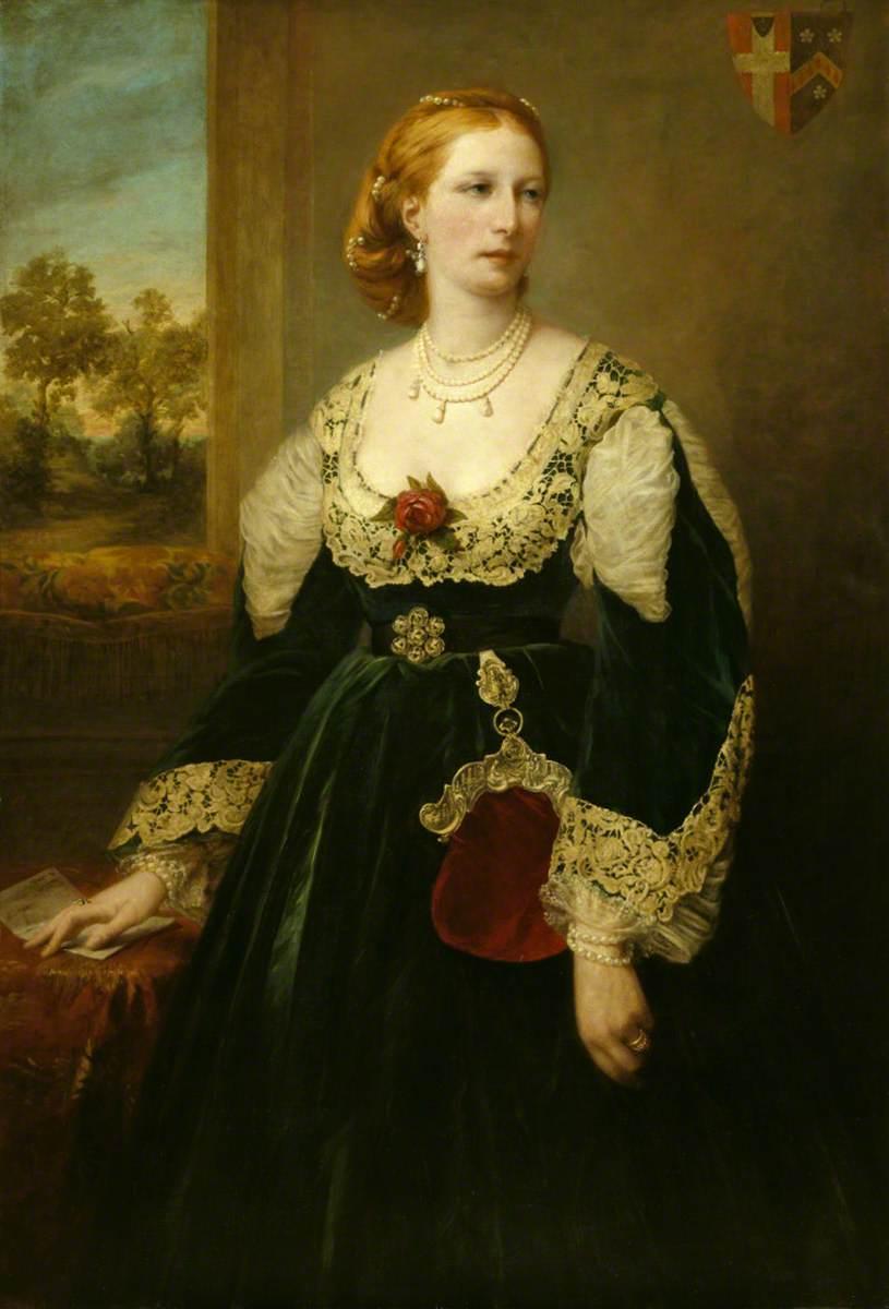 Attilio Baccani, ritratto di Emily Jane Wodehouse, Lady Newton, Collezione National Trust, Lyme Park