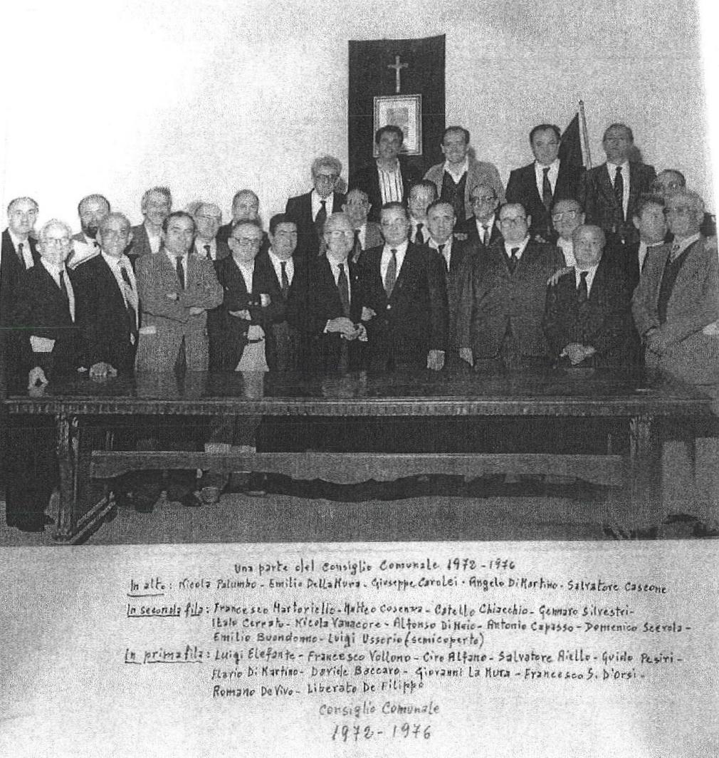 Liberato De Filippo - Una parte del Consiglio Comunale 1972 - 1976