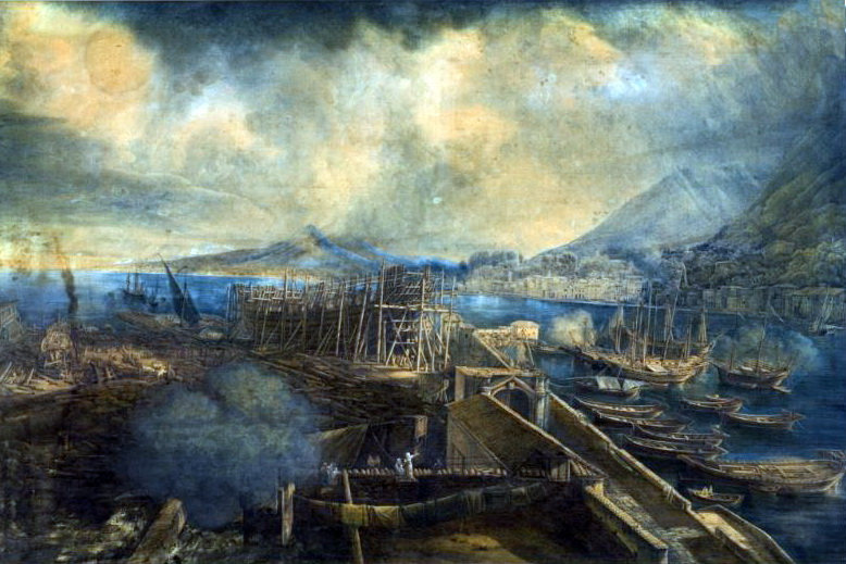 Ship Building Yard, Abraham Louis Ducros