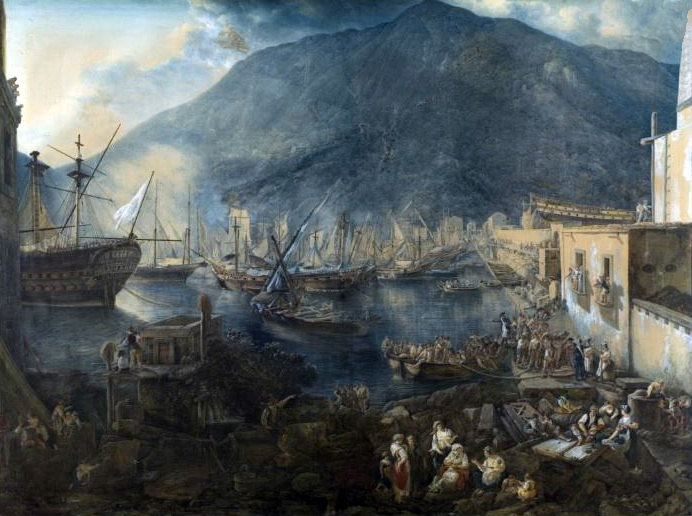 A Harbour Scene, Abraham Louis Ducros