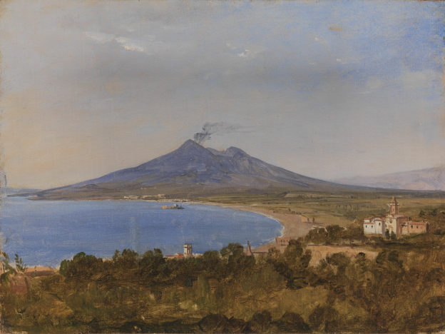 Franz Ludwig Catel, The_Gulf_of_Naples with Vesuvius,, Statens_Museum, 1820 circa.