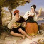 Giovane pescatore con mandolino
