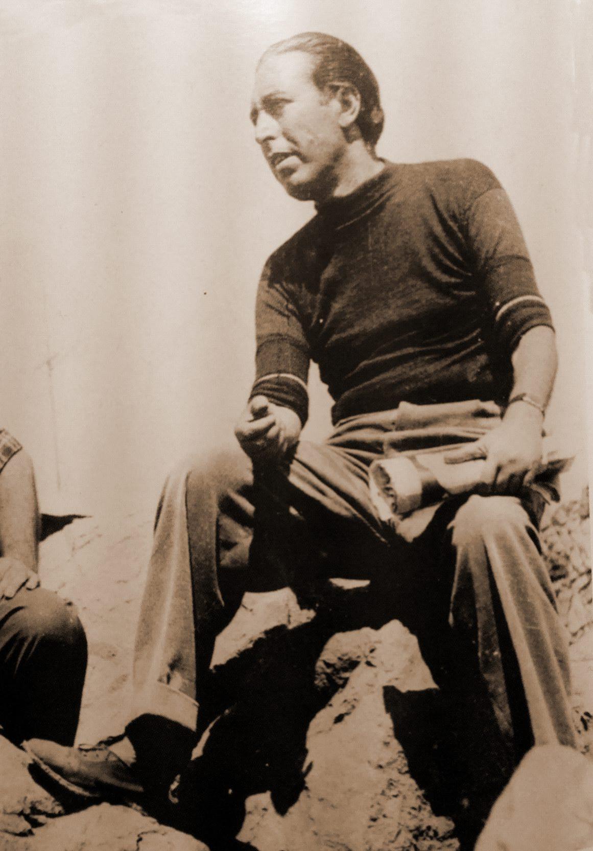 Piero Girace a Capri negli anni '50.